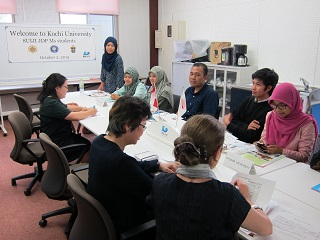 SUIJI-JDP-Ms Students Make a Courtesy Visit to Director of Center for International Collaboration